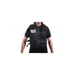 CHALECO TACTICO POLICE NEGRO