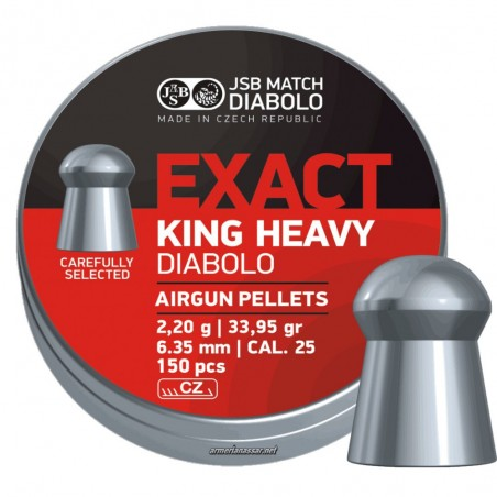 BALINES COMETA EXACT KING HEAVY 6,35mm