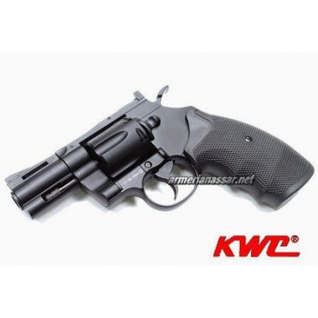 "REVOLVER KWC 357 2,5"" 4.5mm CO2 FULL METAL NEGRA"