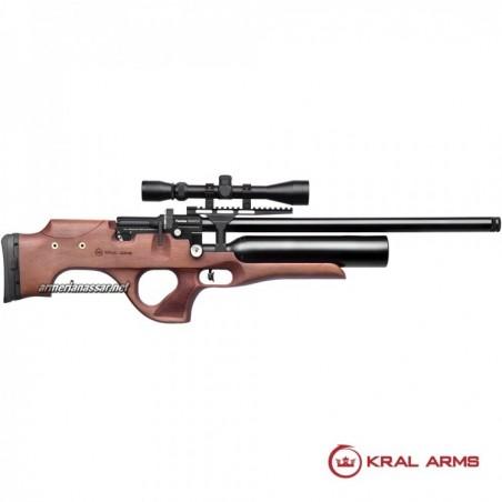 CARABINA PCP KRAL PUNCHER NEMESIS MADERA DE 4.5mm Y 5.5mm INCLUYEN LOS 2 CAÑONES