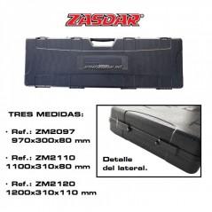 MALETIN ARMA LARGA ZASDAR NEGRO 110X24X7cm